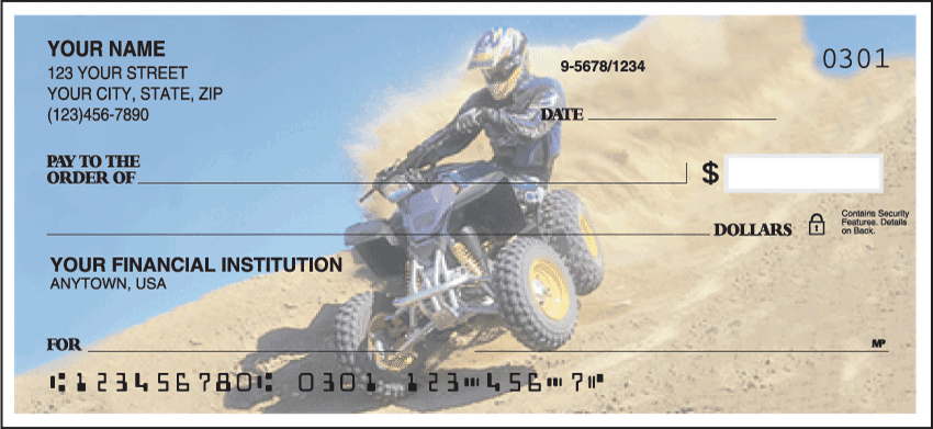 ATV Dirt Wheels Checks - click to view larger image
