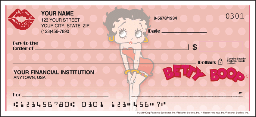 Betty Boop Charm Checks - click to view larger image