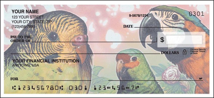birds of paradise checks - click to preview