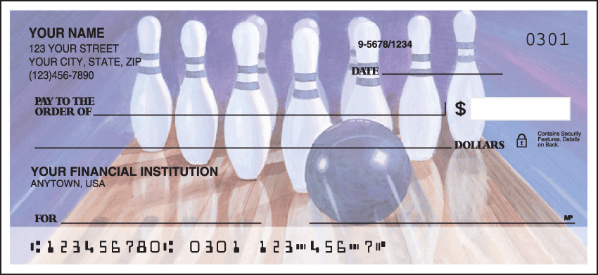 Bowling Checks - click to preview