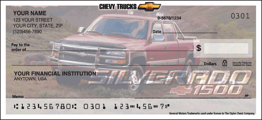 Chevy Trucks Checks - click to view larger image