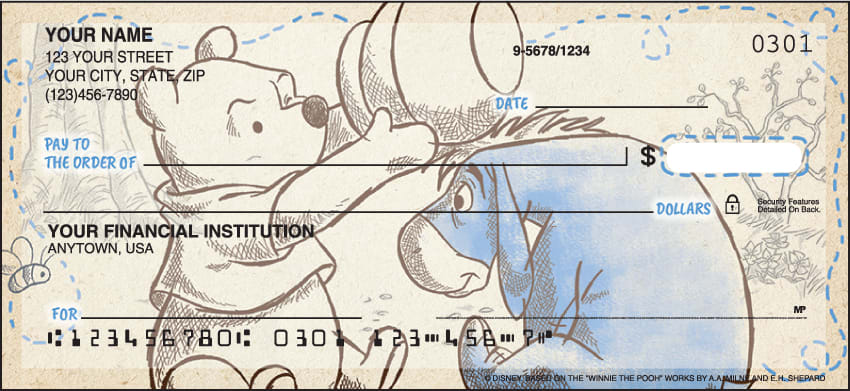 disney pooh & friends checks - click to preview