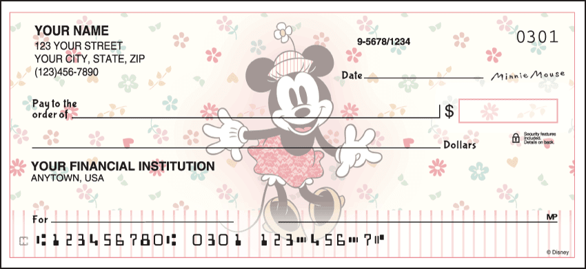 Disney Minnie Mouse Checks - click to view larger image