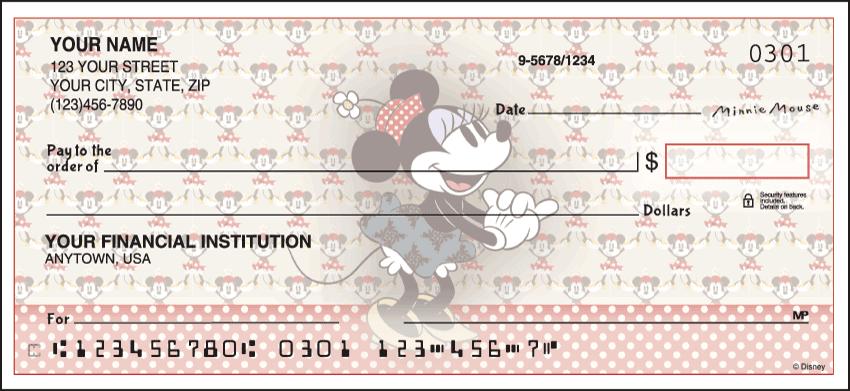 Disney Minnie Mouse Checks - click to preview