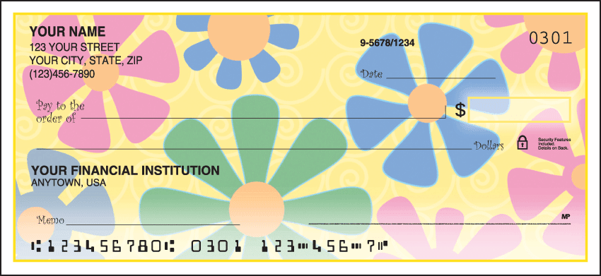 Enlarged view of Flower Power Checks