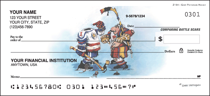 Gary Patterson Hockey Checks - click to view larger image