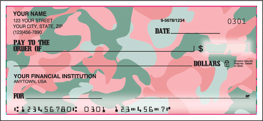 girly camo checks - click to preview