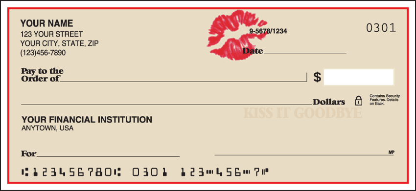 Kiss It Goodbye Checks - click to preview