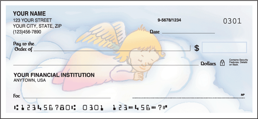 Enlarged view of precious angels checks