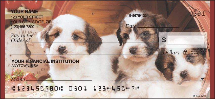 Puppy Pals Checks - click to view larger image