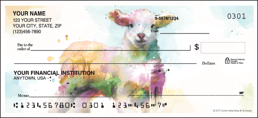 Enlarged view of Watercolor Farm Checks