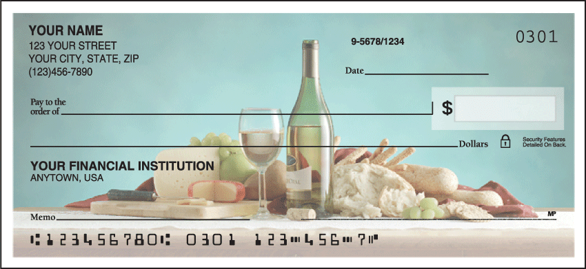 Wine Lover Checks - click to view larger image