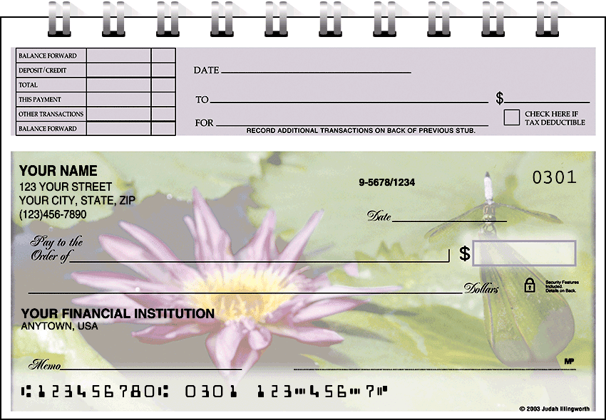 Blooms Top Stub Checks - click to preview