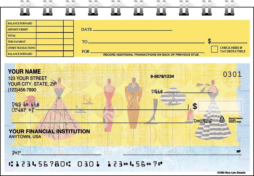boutique top stub checks - click to preview