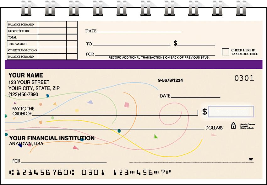 confetti top stub checks - click to preview