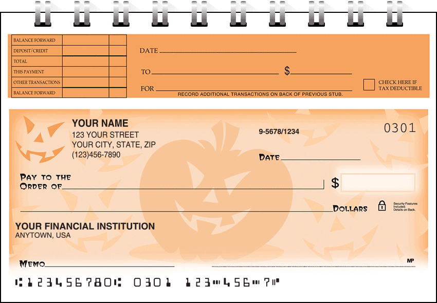 halloween top stub checks - click to preview