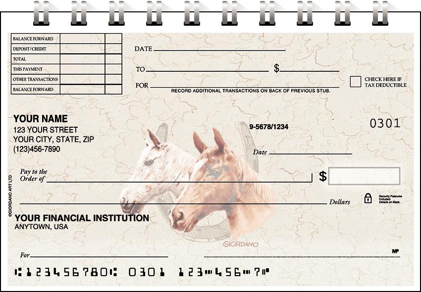 Horses Top Stub Checks - click to preview