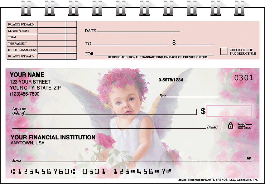 li'l angels top stub checks - click to preview