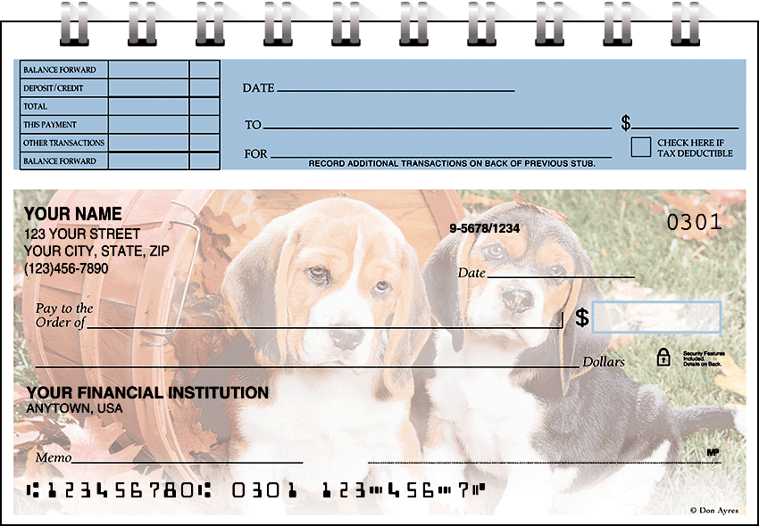 puppy pals top stub checks - click to preview