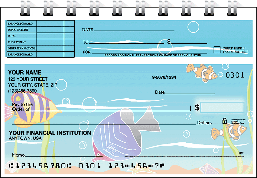 tropical fish top stub checks - click to preview