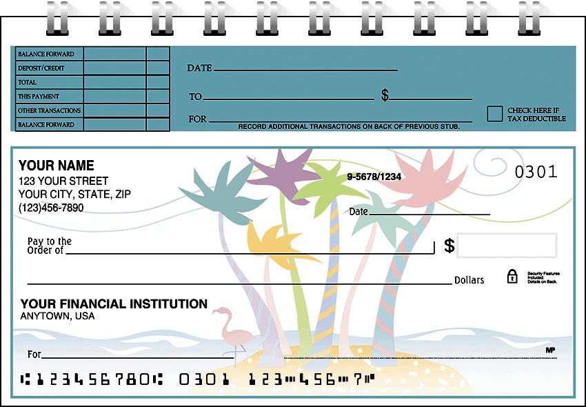 tropical moods top stub checks - click to preview