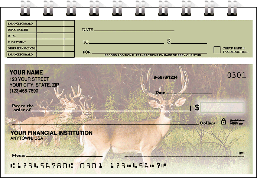 wildlife top stub checks - click to preview