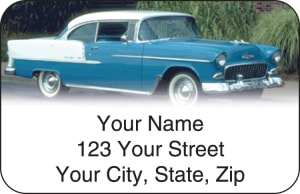 50s Chevy Address Labels – click to view product detail page