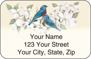 Birds & Blossoms Address Labels – click to view product detail page