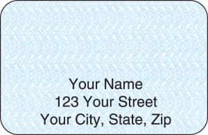 Blue Safety Address Labels – click to view product detail page