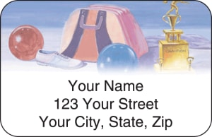 Bowling Address Labels – click to view product detail page