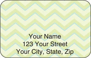 Chevron Address Labels – click to view product detail page