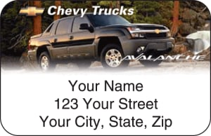 Chevy Trucks Address Labels – click to view product detail page