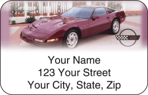 Corvette History Address Labels – click to view product detail page