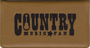 Enlarged view of country music leather checkbook cover