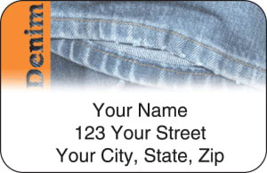 Denim Address Labels – click to view product detail page