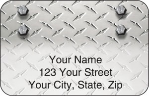 Diamond Plate Address Labels – click to view product detail page