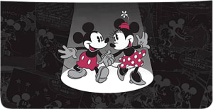 Enlarged view of disney minnie mouse leather checkbook cover