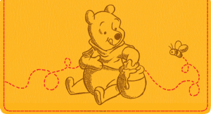 Disney Pooh & Friends Fabric Checkbook Cover – click to view product detail page