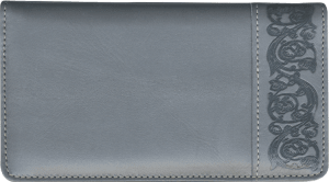Enlarged view of elegance leather checkbook cover
