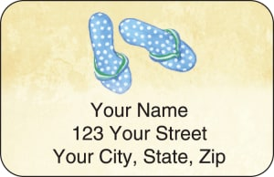 Flip Flops Address Labels – click to view product detail page