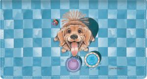 Gary Patterson Dogs Leather Checkbook Cover – click to view product detail page