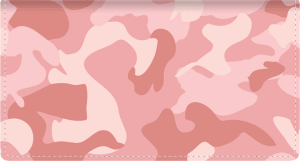 Enlarged view of girly camo leather checkbook cover