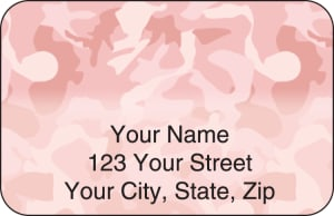 Girly Camo Address Labels – click to view product detail page