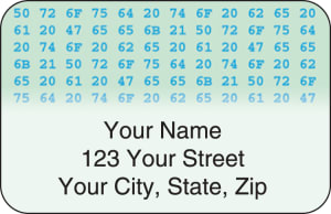 Hexadecimal Address Labels – click to view product detail page