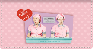 I Love Lucy Leather Checkbook Cover – click to view product detail page