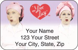 I Love Lucy™ Address Labels – click to view product detail page