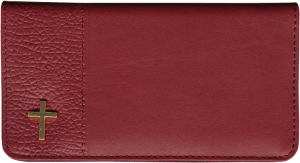 Enlarged view of inspirations leather checkbook cover