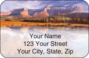 Mountain Reflections Address Labels – click to view product detail page