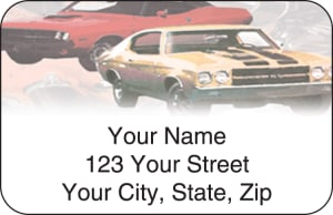 Muscle Car Address Labels – click to view product detail page