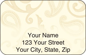 Paisley Address Labels – click to view product detail page